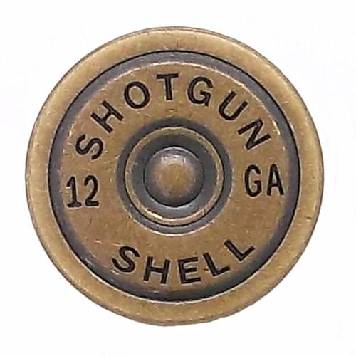 """Shotgun Shell Line 24 Snap Cap Antique Brass 7/8"""""""