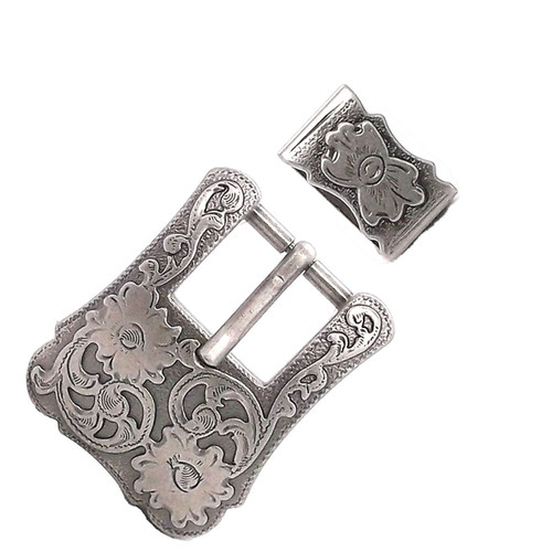 Buckle and Keeper Set Antique Nickel