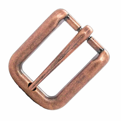 Wave Buckle Antique Copper 1""