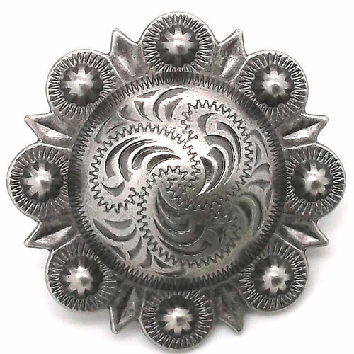 Berry Concho Antique Silver