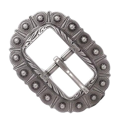 Bridle Buckle Antique Silver
