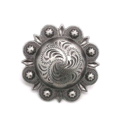 Berry Concho Antique Silver 3/4""
