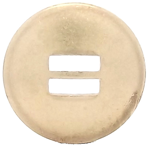 Slotted Concho Brass Smooth 1-1/2""