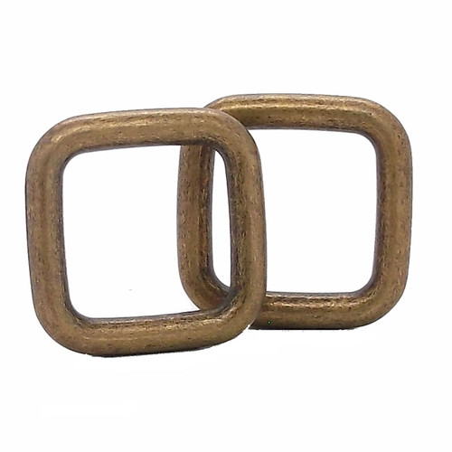 """Square Ring Antique Brass 1"""""""