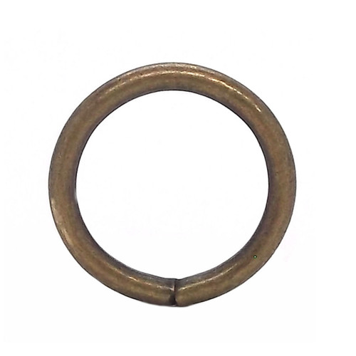 """Ring Smooth Antique Brass 10 Pack 7/8"""""""