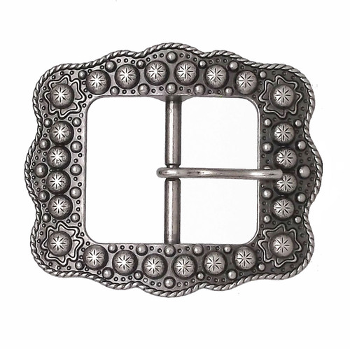 Sunburst Buckle Antique Nickel 1""