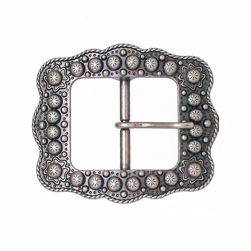 Sunburst Buckle Antique Nickel 3/4""