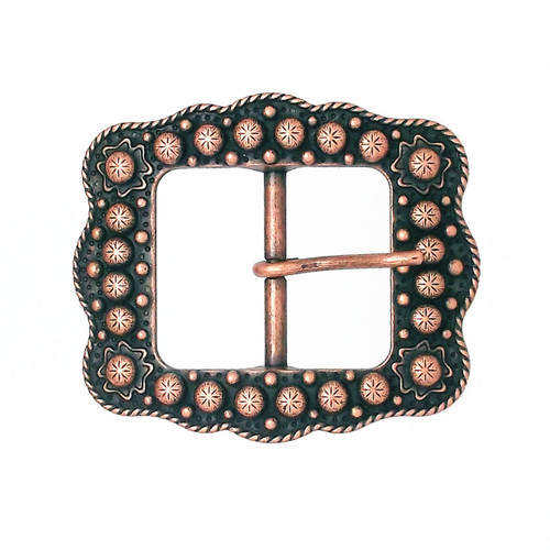 Sunburst Buckle Copper 3/4""