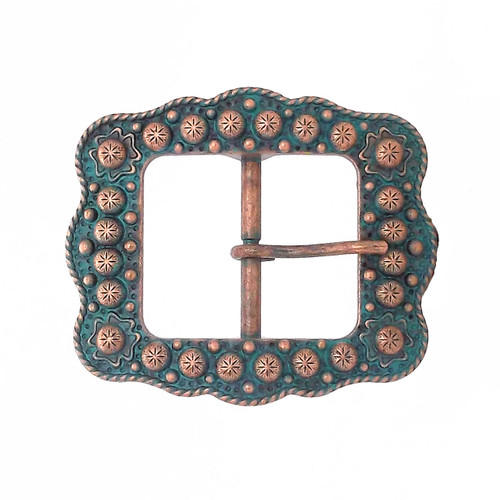 Sunburst Buckle Antique Copper 3/4""