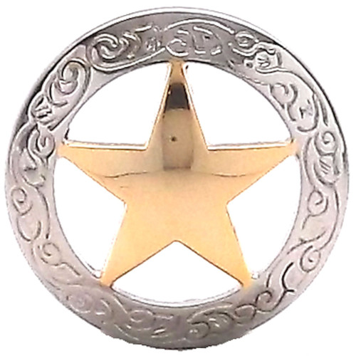 "Texas Star Screwback Concho 1-1/2"""