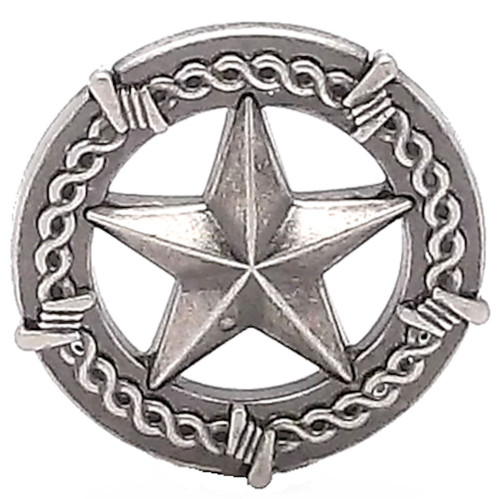 Star And Barbwire Screwback Concho 1-1/2""