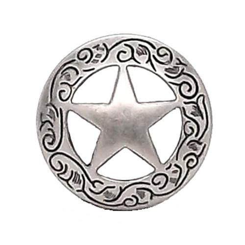"10PC Antique Silver Western Engraved Texas Ranger Star Conchos 1-1//2/"" Screw Back"