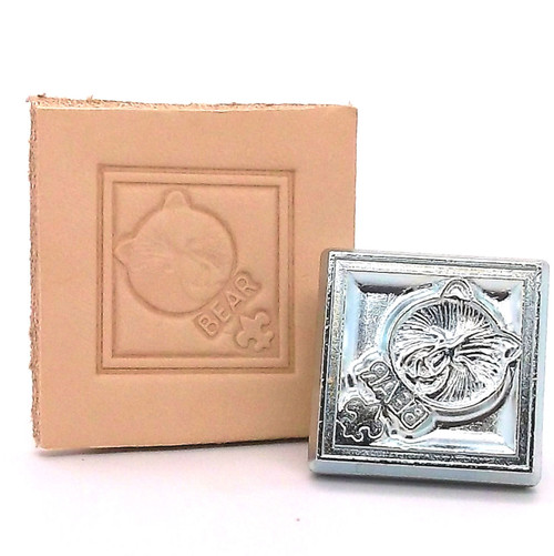 Bear Scout Leather Stamping Tool with Stamp