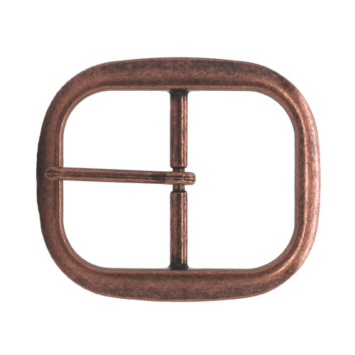 Antique Copper Center Bar Belt Buckle 1-1/4""