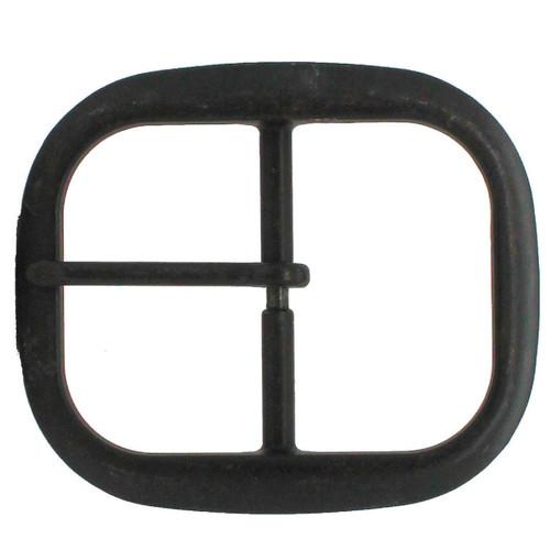 "Black Plated Center Bar Belt Buckle 1-1/2"""