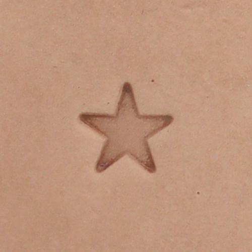 Solid Star Leather Stamp O53