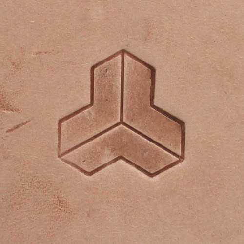 Geometric Weaving Leather Stamp