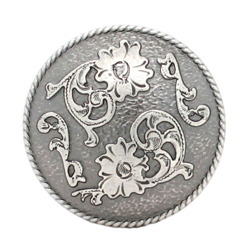 Dual Cactus Flower Antique Nickel