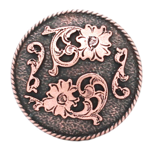 Dual Cactus Flower Antique Copper