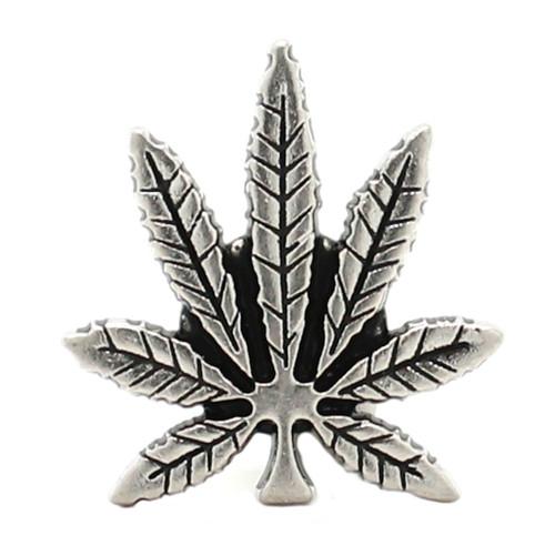 Hemp Leaf Nickel Decorative Line 24 Snap Cap