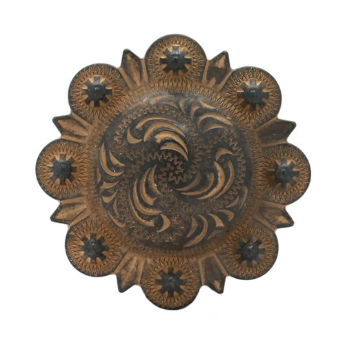 """Berry Concho Rustic Gold Screw Back 1"""" 7862-32"""