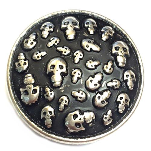 """Multi Skull Concho Screw Back 1-1/4"""""""