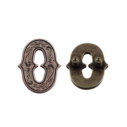 """Number 0 Screwback Concho in Dark Silver 3/4"""" 1339-272"""