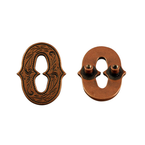 Number '0' Screwback Concho in Antique Copper Plated 1339-273
