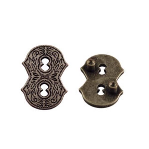 Number 8 Screwback Concho in Dark Silver 1339-352