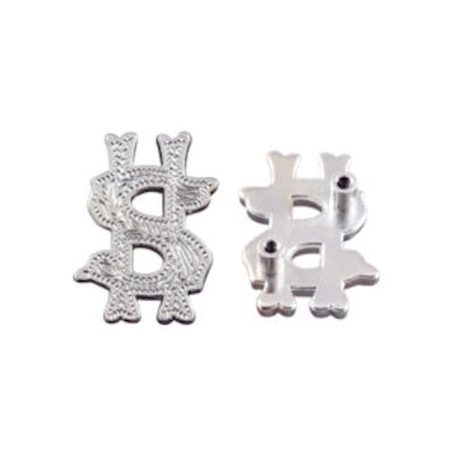 Money Screwback Concho in Shiny Silver 1339-37