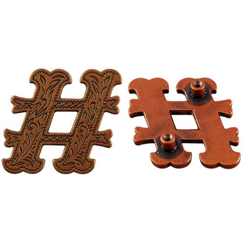 # Screwback Concho in Antique Copper 1339-403