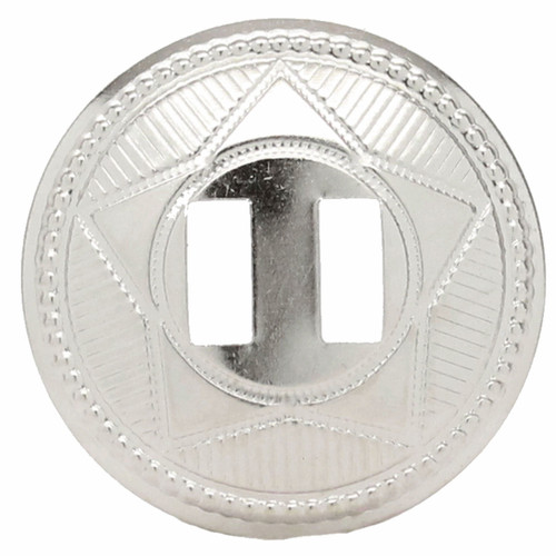 """Slotted Concho Star Design Silver 1-1/2"""" 10 Pack"""