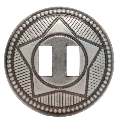 """Slotted Concho Star Design Antique Nickel 1-1/2"""" 10 Pack"""