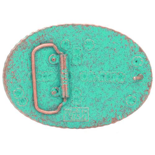 Belt Buckle Sheridan Floral Antique Copper Back