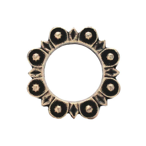 """Flat Ring Antique Brass 1"""" Front"""