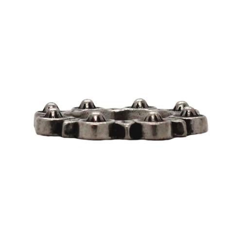 "Flat Ring Antique Nickel 1""  Side"