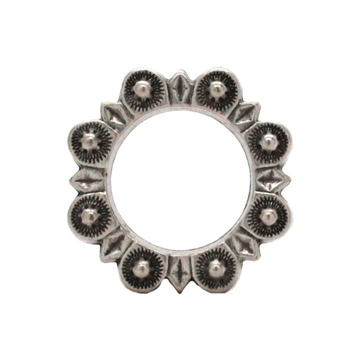 "Flat Ring Antique Nickel 1""  Front"