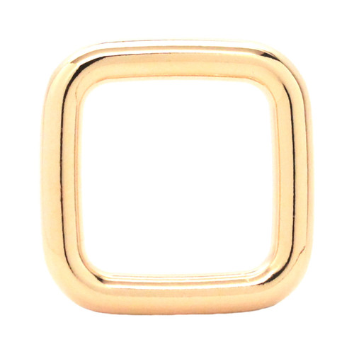 Square Ring Brass Plate 1""