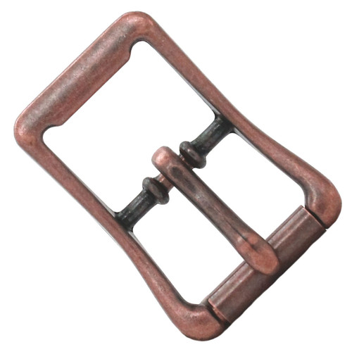 "Copper Center Bar Roller Buckle 1"" Front"