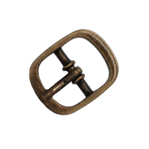 Sandal Buckle Antique Brass 1/2""