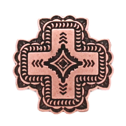 Santa Fe Cross Concho Antique Copper