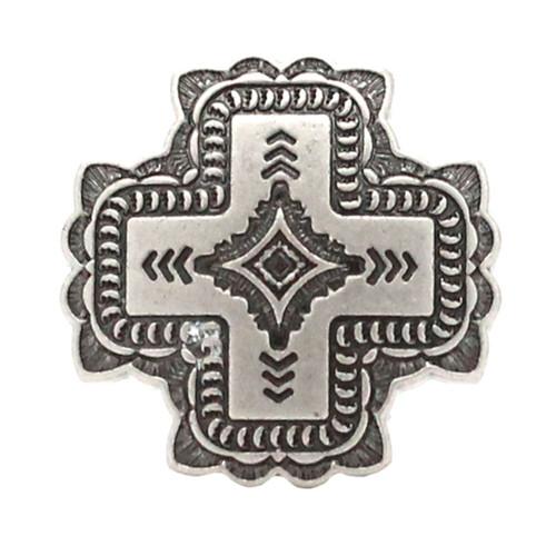 Santa Fe Cross Concho Antique Nickel 1-1/4""