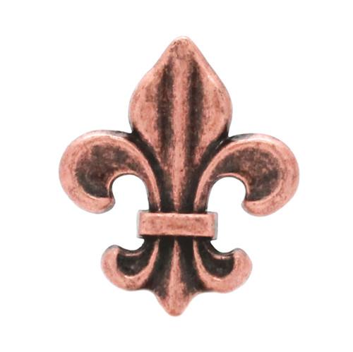 "Fleur di Lis Concho Antique Copper 1-3/16"""