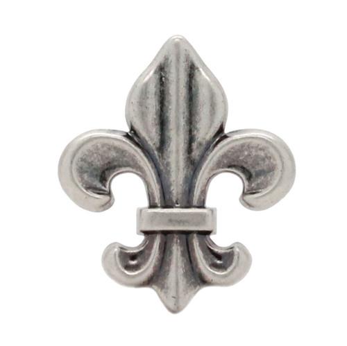 "Fleur di Lis Concho Antique Nickel 1-3/16"""