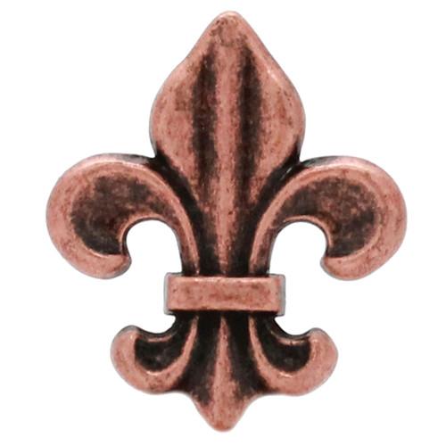 """Fleur de Lis Concho Antique Copper 1-5/8"""""""