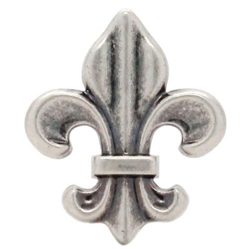 """Fleur de Lis Concho Antique Nickel 1-5/8"""""""