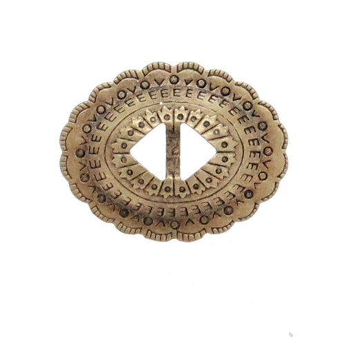 "Slotted Stamped Steel Concho Antique Brass 1-1/4"" 10 Pack"