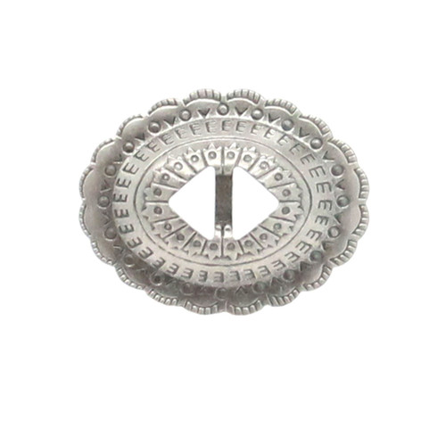 "Slotted Stamped Steel Concho Antique Nickel 1-1/4"" 10 Pack"