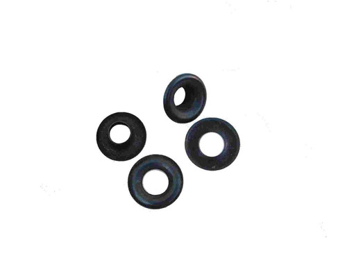 "Black/Steel #00 3/16"" Grommets B1S-00, 24 Pack"