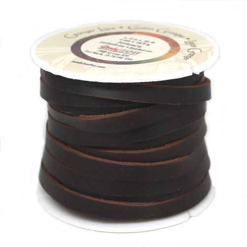 "Durable 1/4"" Wide Granger Lace Brown 36 Feet"